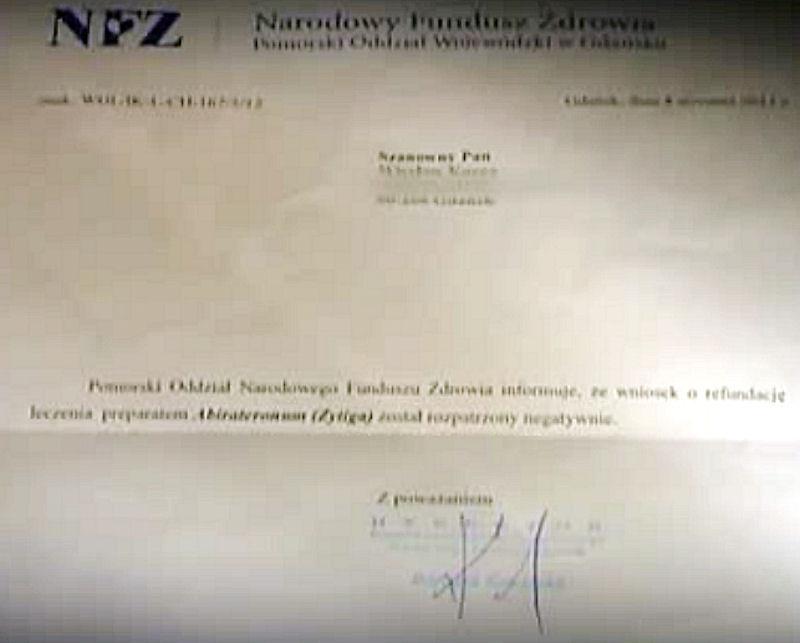 NFZ-pismo