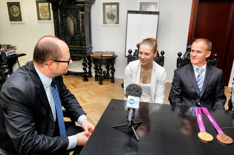 Natalia Partyka u Prezydenta Gdańska