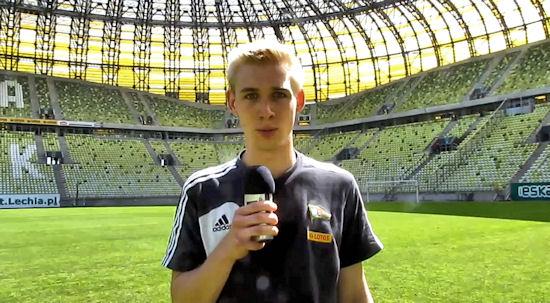 Adam Duda przed meczem z Widzewem Łódź