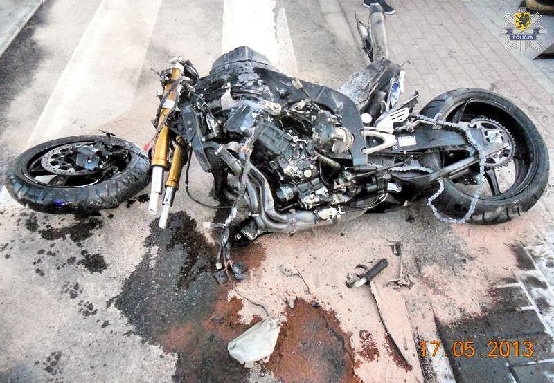 Dwa wypadki z udziałem motocykli w Chojnicach
