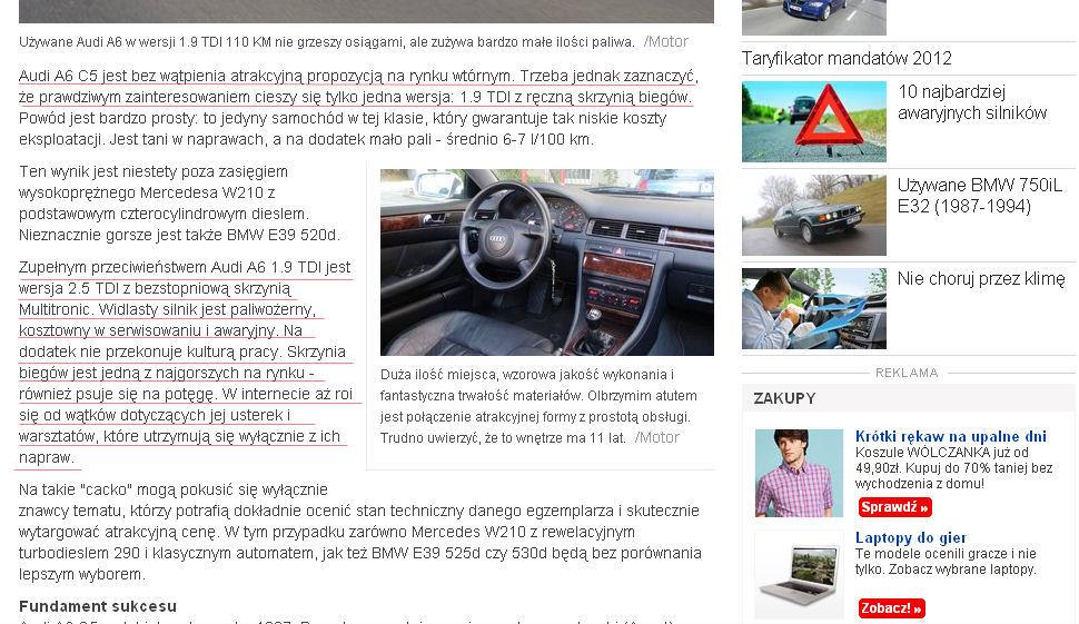 Audi A6 2,5 TDI. Jak oszukać na aukcji internetowej? Oto przykład!