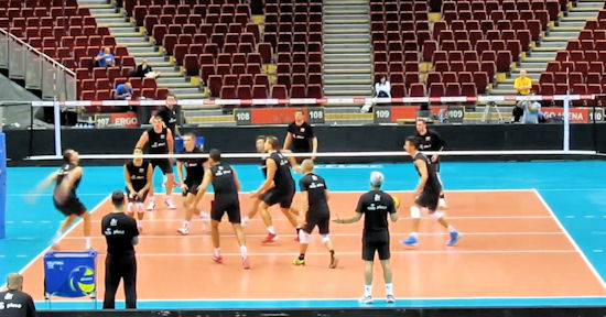Trening reprezentacji Polski siatkarzy w Ergo Arenie