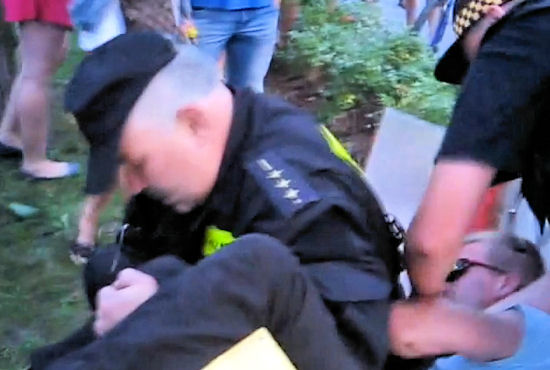 sBrutalna akcja Straży Miejskiej w Sopocie