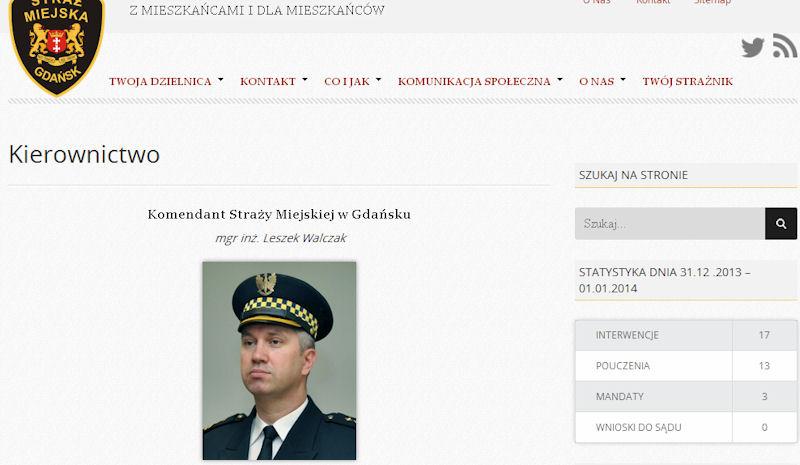 Leszek Walczak. Komendant gdańskiej Straży Miejskiej.