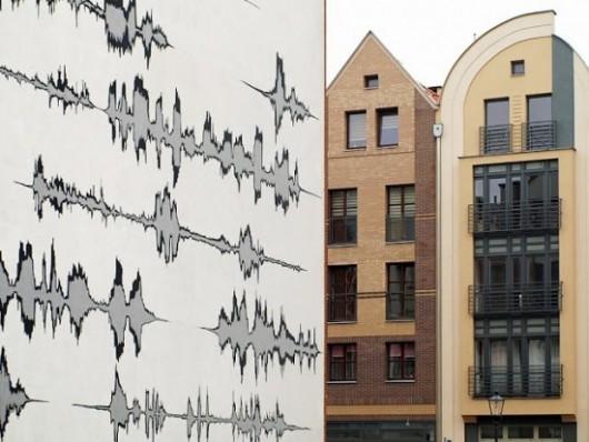 Mural przy ul. Rzeźnickiej w Elblągu