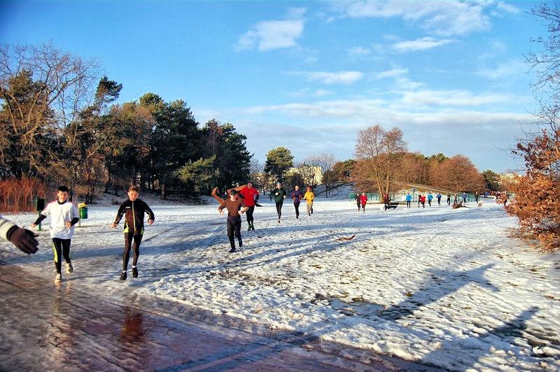 Parkrun Gdańsk tym razem na lodzie