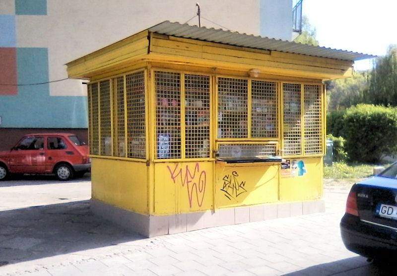 Gdańsk: Żółty kiosk przy ul. Chełmońskiego