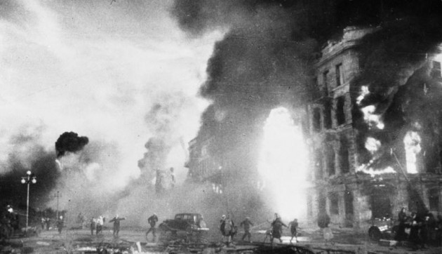 Płonące ulice Stalingradu