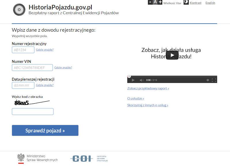 Teraz sam sprawdzisz historię auta - ruszyła witryna www.historiapojazdu.gov.pl