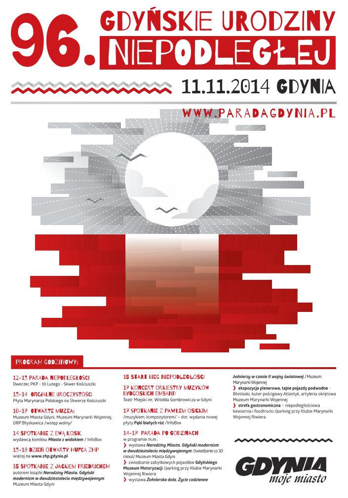 Święto Niepodległości w Gdyni - program uroczystości